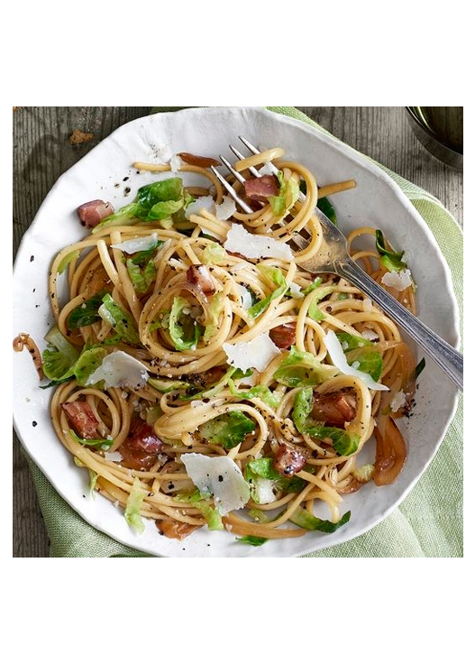 Bacon & Brussels Sprout Linguine
