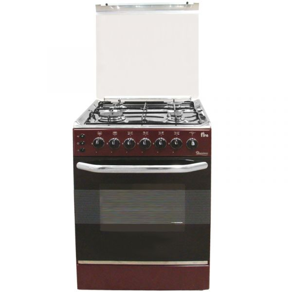 4 Gas 50x50 Dark Red Cooker 5694 Eb 303 Ramtons
