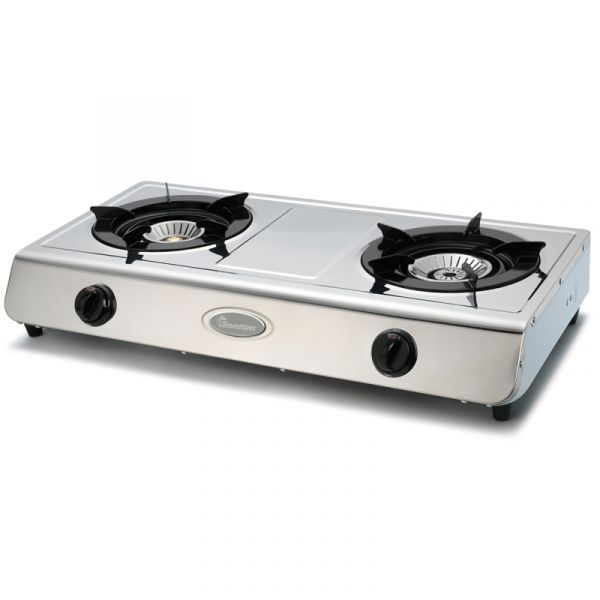 Gas Cooker 2 Burner Stainless Steel Rg 514 Ramtons