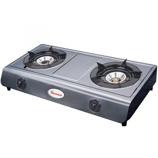 Gas Cooker 2 Burner Stainless Steel Rg 515 Ramtons