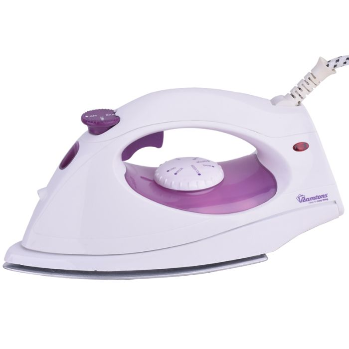 Ramtons iron box RE/107 in Kenya White and Purple, Steam Iron