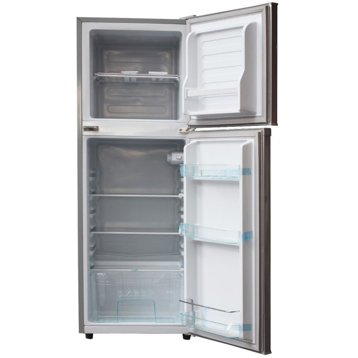128 LITERS 2 DOOR DIRECT COOL FRIDGE, SILVER- RF/173