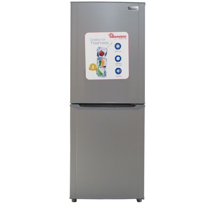 196 LITERS COMBI FRIDGE, SILVER- RF/289