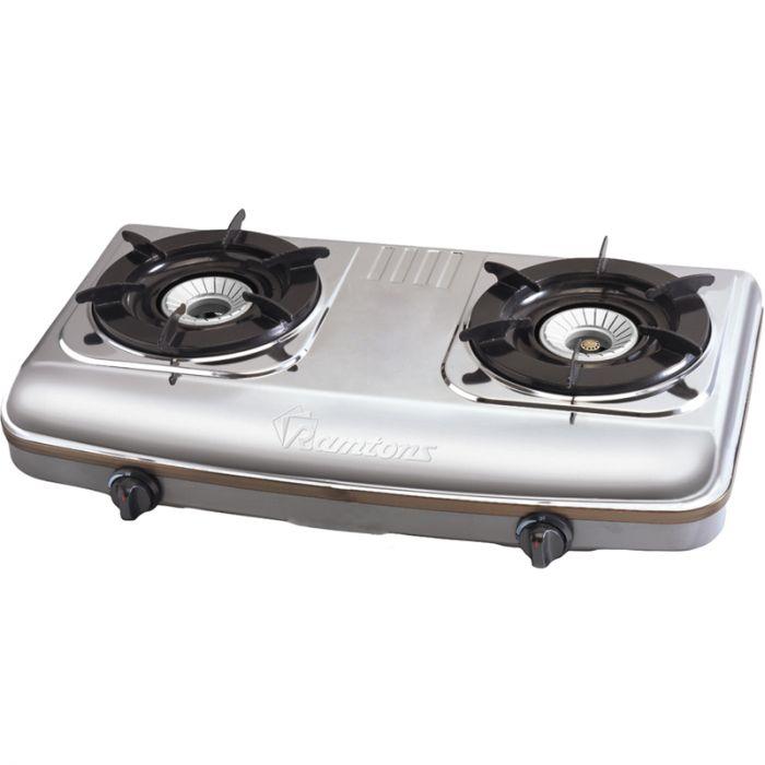 RAMTONS Table top gas cooker RG/502 in Kenya STAINLESS STEEL, 2 BURNER, GAS COOKER