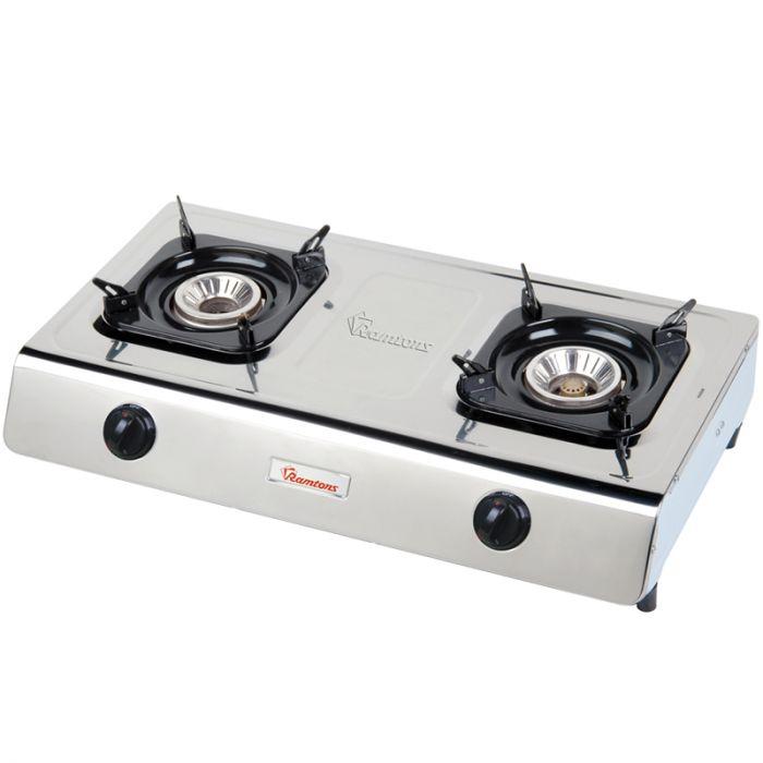 RAMTONS Table top gas cooker RG/518 in Kenya STAINLESS STEEL, 2 BURNER, GAS COOKER