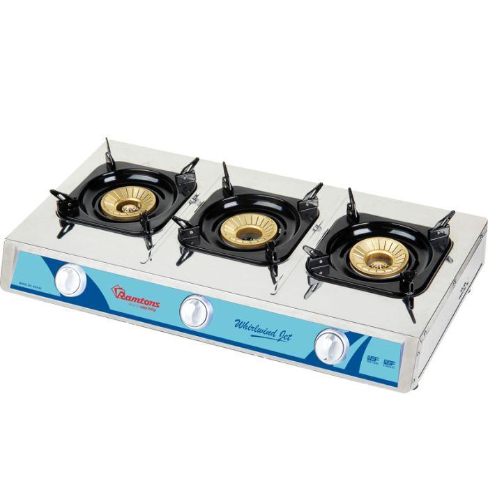 RAMTONS Table top gas cooker RG/530 in Kenya STAINLESS STEEL, 3 BURNER, GAS COOKER