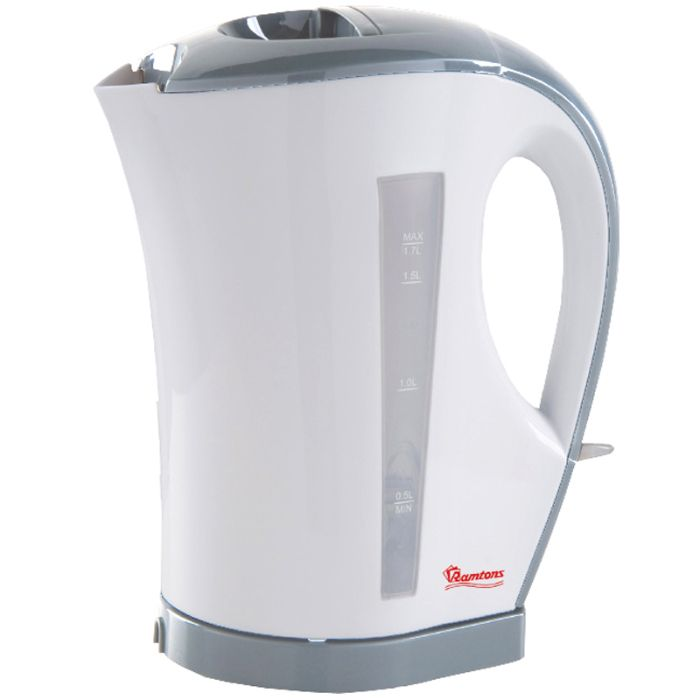 RAMTONS Electric Kettle RM/263 in Kenya WHITE AND GREY ELECTRIC CORDLESS KETTLE, 1.7 LITRES CAPACITY