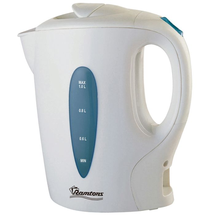 RAMTONS Electric Kettle RM/315 in Kenya WHITE CORDED ELECTRIC KETTLE, 1 LITRE CAPAITY