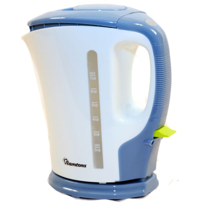 RAMTONS Electric Kettle RM/324 in Kenya WHITE AND BLUE ELECTRIC CORDLESS KETTLE, 1.7 LITRES CAPACITY