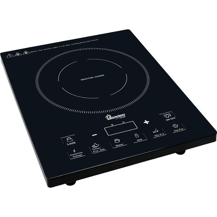 Ramtons Table top cooker RM/381 in Kenya BLACK INDUCTION COOKER + FREE NON-STICK 24 CM PAN INSIDE