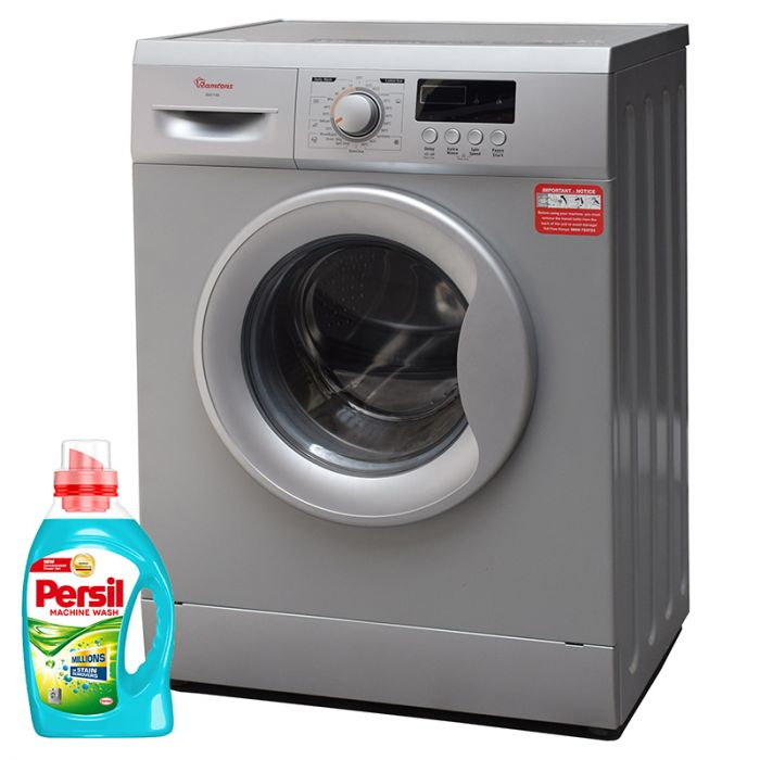 Ramtons Washing Machine RW/145 in Kenya Front Load Fully Automatic Washer 1200 RPM, 6Kg - Silver