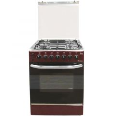 4 GAS 50X50 DARK RED COOKER 5694- EB/303