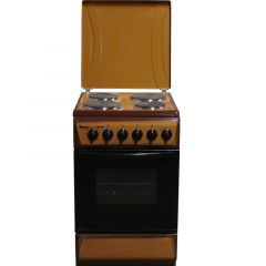4 ELECTRIC 50X55 WHITE/BROWN/SILVER COOKER- RF/192
