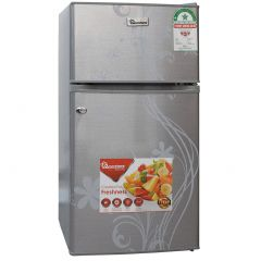 90 LITRES DOUBLE DOOR DIRECT COOL FRIDGE, SILVER- RF/222