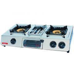 GAS COOKER 2 BURNER STAINLESS STEEL- RG/504