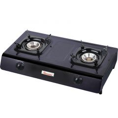 GAS COOKER 2 BURNER TEFLON- RG/516