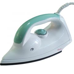 WHITE AND GREEN DRY IRON-RM/202