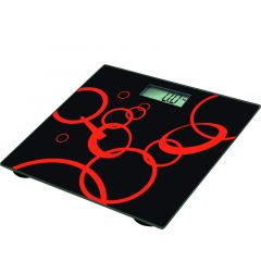BLACK AND RED BATHROOM SCALE- RM/285