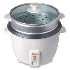 RICE COOKER+STEAMER 1.8 LITERS WHITE- RM/289