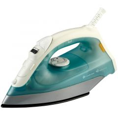 GREEN AND WHITE STEAM IRON-RM/306