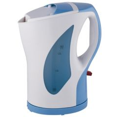 CORDLESS ELECTRIC KETTLE 1.7 LITERS WHITE AND BLUE- RM/317