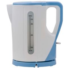 CORDLESS ELECTRIC KETTLE 1.7 LITERS WHITE AND BLUE- RM/325