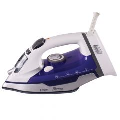 WHITE AND PURPLE STEAM & DRY CORDLESS IRON- RM/488