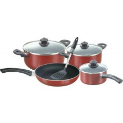 MAROON 8 PIECE COOKWARE SET MASTER CHEF- RT/108