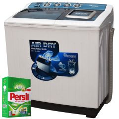TWIN TUB SEMI AUTOMATIC 14KG WASHER + FREE PERSIL POWDER- RW/114