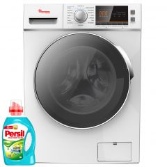FRONT LOAD FULLY AUTOMATIC 8KG WASHER, 6KG DRYER, SILVER + FREE PERSIL GEL- RW/146